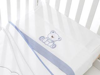 Immagine di Erbesi completo lenzuolino 3 pz Tato azzurro - Corredino nanna