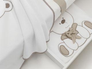 Immagine di Erbesi coperta in pile Tato tortora - Corredino nanna