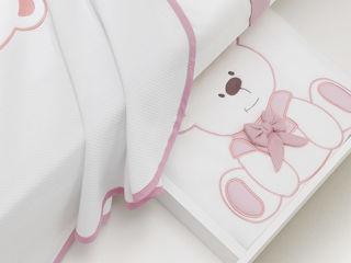Immagine di Erbesi coperta in pile Tato rosa - Corredino nanna