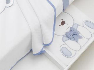 Immagine di Erbesi coperta in pile Tato azzurro - Corredino nanna