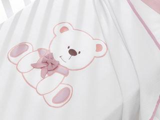 Immagine di Erbesi coperta in piquet Tato rosa - Corredino nanna