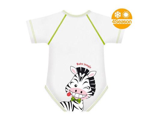 Immagine di J BIMBI body taglia unica 0-36 mesi Baby Jungle zebra - Intimo bimbo