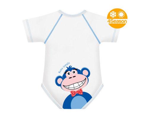 Immagine di J BIMBI body taglia unica 0-36 mesi Baby Jungle scimmia - Intimo bimbo