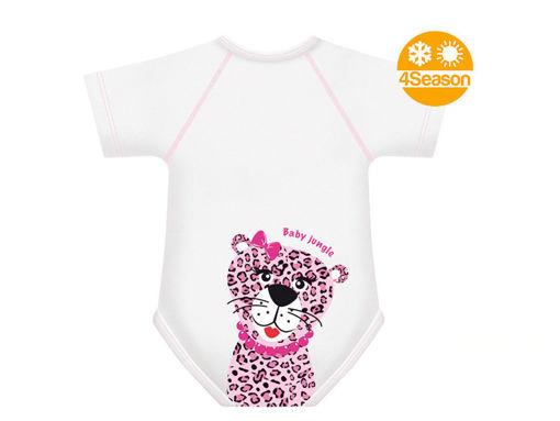 Immagine di J BIMBI body taglia unica 0-36 mesi Baby Jungle leopardo - Intimo bimbo
