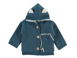 Immagine di Noukie's cardigan in maglia blu tg 12 mesi - Giubbini