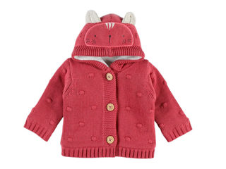 Immagine di Noukie's cardigan in maglia rosa tg 9 mesi - Giubbini