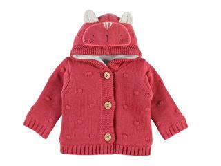 Immagine di Noukie's cardigan in maglia rosa tg 18 mesi - Giubbini