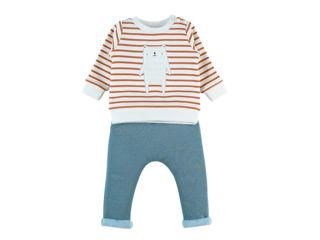 Immagine di Noukie's completo felpa Sweatoloudoux e pantaloni da jogging beige tg 9 mesi - Vestiti