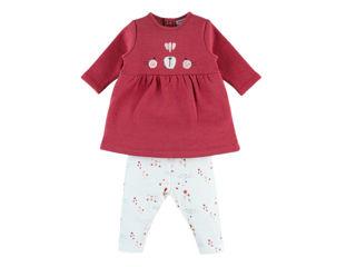 Immagine di Noukie's completo vestito e jeggings rosa e bianco tg 6 mesi - Vestiti