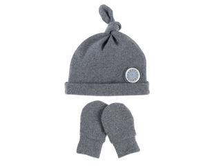 Immagine di Noukie's set berretto e muffole in cotone biologico grigio T0 (1-3 mesi) - Cappelli e guanti
