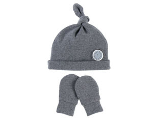 Immagine di Noukie's set berretto e muffole in cotone biologico grigio T2 (12-18 mesi) - Cappelli e guanti