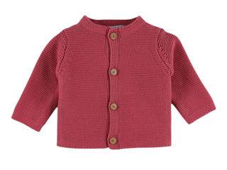 Immagine di Noukie's cardigan in maglia organica rosa M&M tg 6 mesi - Giubbini
