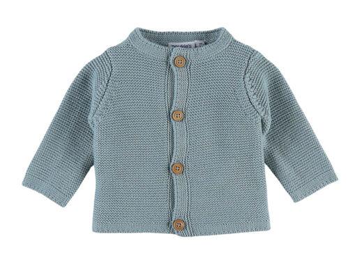 Immagine di Noukie's cardigan in maglia organica acqua M&M tg 3 mesi - Giubbini