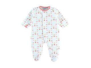 Immagine di Noukie's pigiama per dormire bene in velluto bianco e rosa tg 1 mese - Tutine
