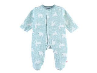 Immagine di Noukie's pigiama per dormire bene in velluto verde acqua tg 1 mese - Tutine
