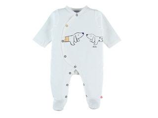 Immagine di Noukie's pigiama termoregolante velluto ecru  tg 3 mesi - Tutine