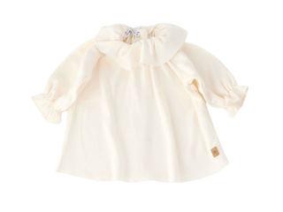 Immagine di Bamboom camicia volant Bluse bianco latte tg 1 mese - T-Shirt e Top