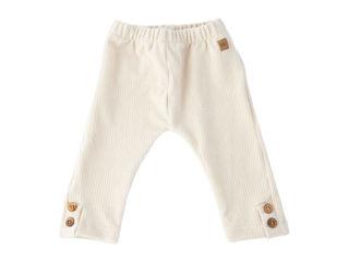 Immagine di Bamboom pantalone leggings Skinny velluto a costine bianco latte tg 36 mesi - Pantaloni