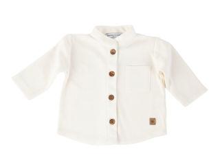 Immagine di Bamboom camicia collo coreano bimbo bianco panna tg 3 mesi - T-Shirt e Top