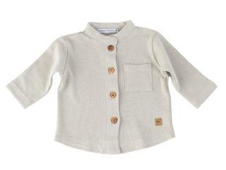 Immagine di Bamboom camicia collo coreano bimbo grigio chiaro tg 6 mesi - T-Shirt e Top