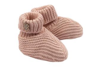 Immagine di Bamboom babbucce fatte a maglia rosa - Calzine per neonato
