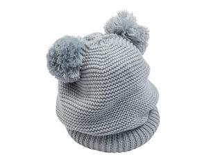 Immagine di Bamboom cappellino fatto a maglia azzurro tg M - Cappelli e guanti