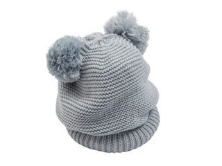 Immagine di Bamboom cappellino fatto a maglia azzurro tg S - Cappelli e guanti