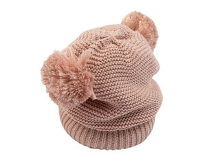 Immagine di Bamboom cappellino fatto a maglia rosa tg S - Cappelli e guanti