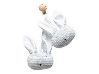Immagine di Bamboom Coniglietti lavorati a maglia con clip azzurro - Educativi