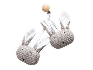 Immagine di Bamboom Coniglietti lavorati a maglia con clip grigio caldo - Educativi