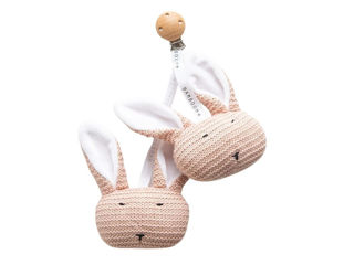Immagine di Bamboom Coniglietti lavorati a maglia con clip rosa - Educativi