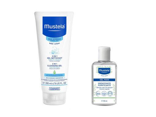 Immagine di Mustela gel detergente 2in1 200 ml + gel igienizzante mani 80 ml - Eco detergenti