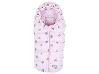 Immagine di Picci sacco imbottito carrozzina/ovetto Star rosa-stelle grigio - Sacchi per carrozzina