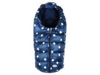 Immagine di Picci sacco imbottito carrozzina/ovetto Star blu-stelle bianche - Sacchi per carrozzina