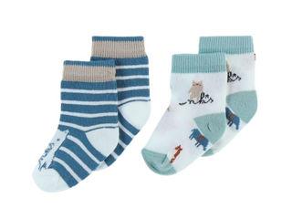 Immagine di Noukie's 2 paia di calzini in cotone verde tg 18 - Calzine per neonato