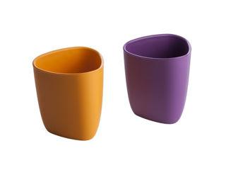 Immagine di eKoala set 2 bicchieri eKuà arancio-viola - Tazze e bicchieri