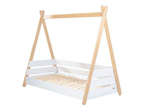 Immagine di Picci struttura letto in legno Scout bianco/naturale - Lettini