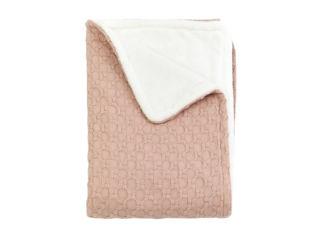 Immagine di Bamboom coperta lettino Honey 140 x 100 cm rosa nudo - Corredino nanna
