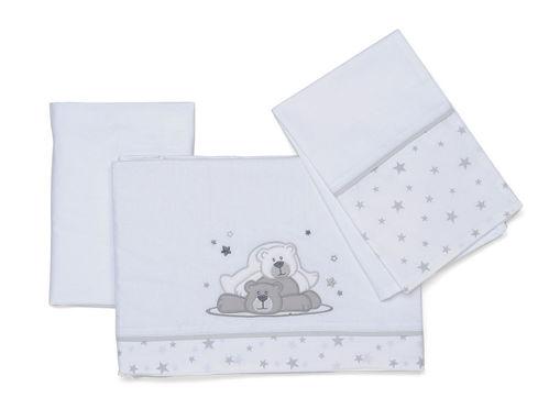Immagine di Foppapedretti completo lenzuolino Dolcestella bianco - Corredino nanna