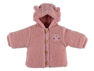 Immagine di Noukie's giacca in sherpa con cappuccio rosa tg 3 mesi - Giubbini