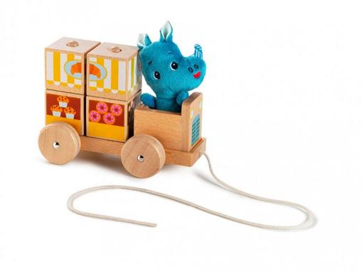 """Immagine di Lilliputiens puzzle trainabile """"chiosco ambulante"""" di Marius 83130 - Giocattoli in legno"""