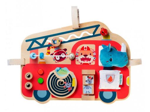 Immagine di Lilliputiens pannello attività Camion dei Pompieri 83180 - Educativi