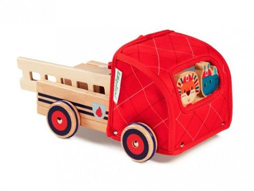 Immagine di Lilliputiens camion dei pompieri 83182 - Giocattoli in legno