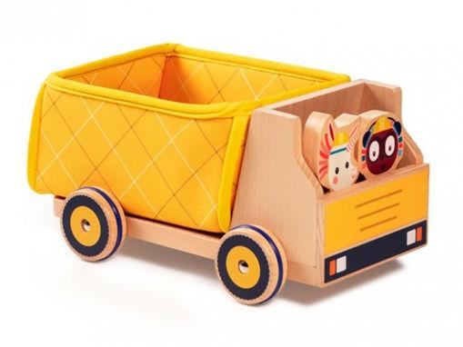 Immagine di Lilliputiens camion dei rifiuti 83183 - Giocattoli in legno