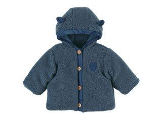 Immagine di Noukie's giacca in sherpa con cappuccio blu tg 3 mesi - Giubbini