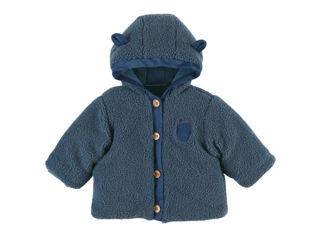 Immagine di Noukie's giacca in sherpa con cappuccio blu tg 12 mesi - Giubbini